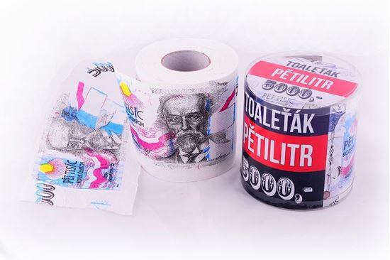 Obrázek z Toaletní papír pětitisícovka – druhá jakost
