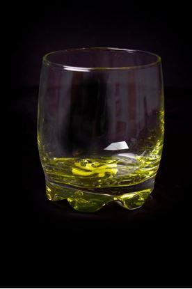 Obrázek Sklenička s barevným dnem - zelená
