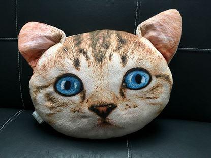 Obrázek Polštář v designu kočky - béžový