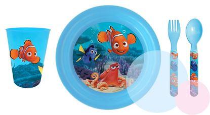 Obrázek 4dílný plastový set Nemo