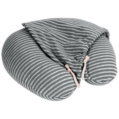 Obrázek Cestovní polštář s kapucí - šedý