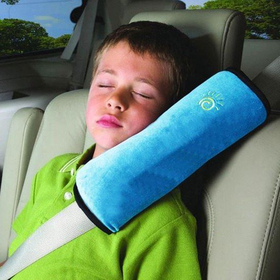 Obrázek z Cestovní polštář do auta na pás - modrý