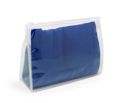 Obrázek Barevný plážový šátek - modrý