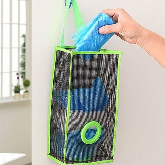 Obrázek z Zásobník na igelitové pytlíky - zelený