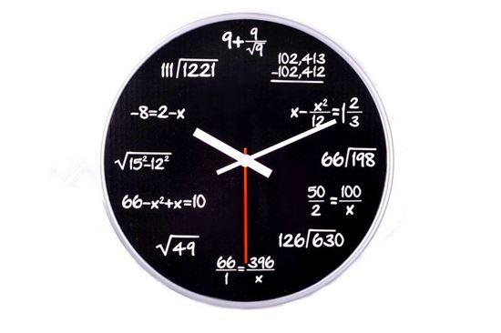 Obrázek z Matematické hodiny - černé