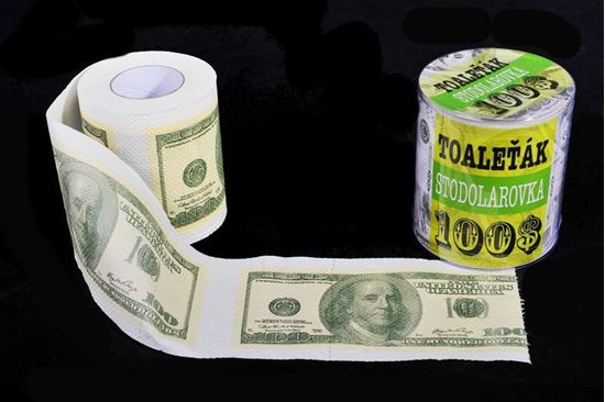 Obrázek z Toaletní papír - 100 Dolarovka