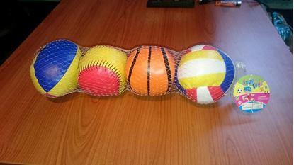 Obrázek Sada sportovních mini míčků 4 ks