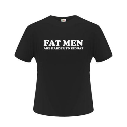 Obrázek Pánské tričko - Fat man - černé - L