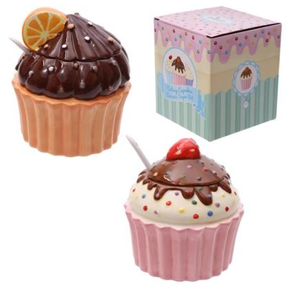 Obrázek Keramická dózička se lžičkou Cupcake