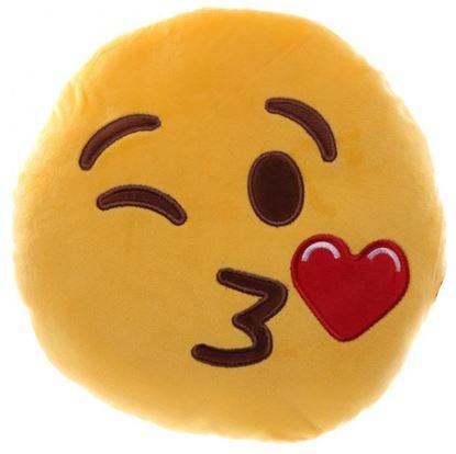 Obrázek Plyšový polštář smajlík - Posílá polibek