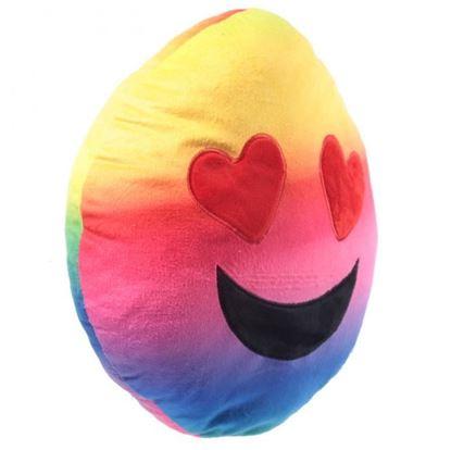Obrázek Plyšový polštář smajlík - Zamilovaný duhový