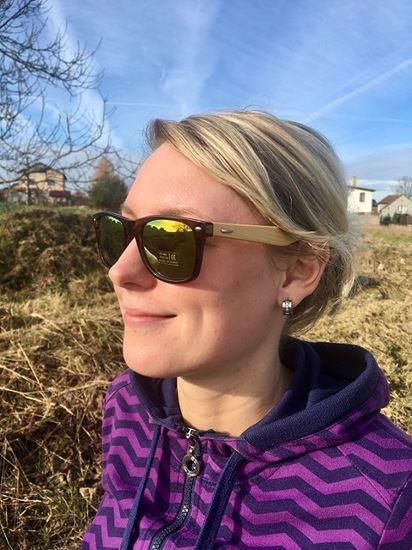 Obrázek z Dřevěné sluneční brýle - duhové