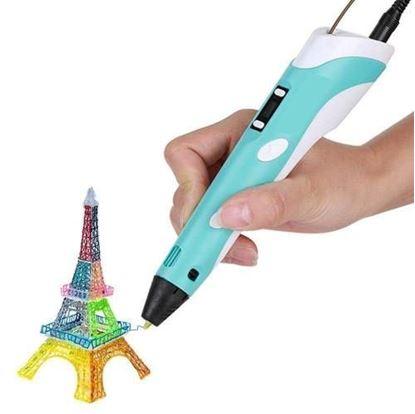 Obrázek 3D pero s LCD displejem - modré