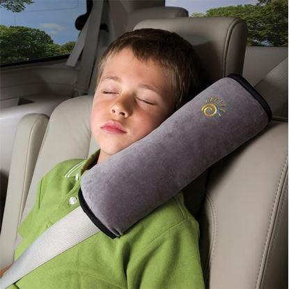 Obrázek Cestovní polštář do auta na pás - šedivý