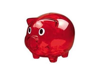 Obrázek Pokladnička - Červené prasátko