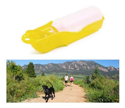 Obrázek Cestovní láhev pro psy - žlutá