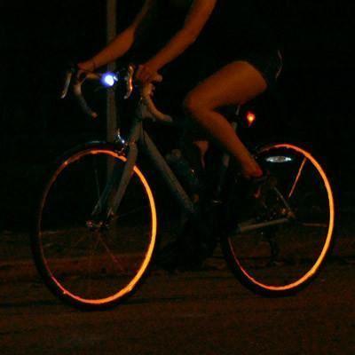 Obrázek Reflexní pásky na kolo - oranžová