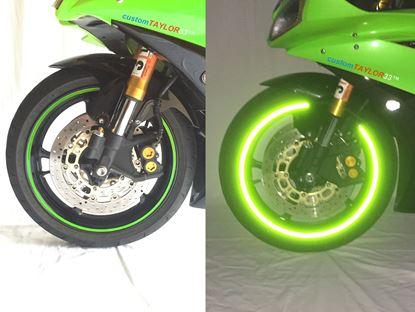 Obrázek Reflexní pásky na kolo - zelená