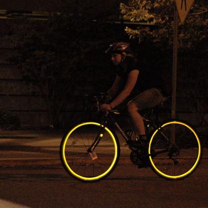 Obrázek Reflexní pásky na kolo - žlutá