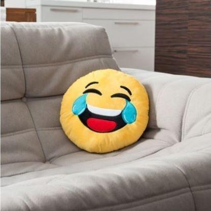 Obrázek Plyšový polštář smajlík - Smějící se