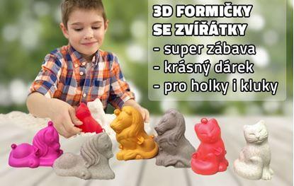 Obrázek 3D formičky malé - mix zvířátek